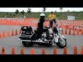 Police Officer Tears Up the Course at the Motorcycle Rodeo