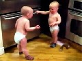 Babys involved in a serious word-fight