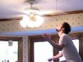 Ceiling Fan Stunt FAIL