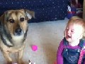 Baby Cracks Up At Dog Attacking Bubbles