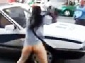Half naked Chinese Woman vs. Cops